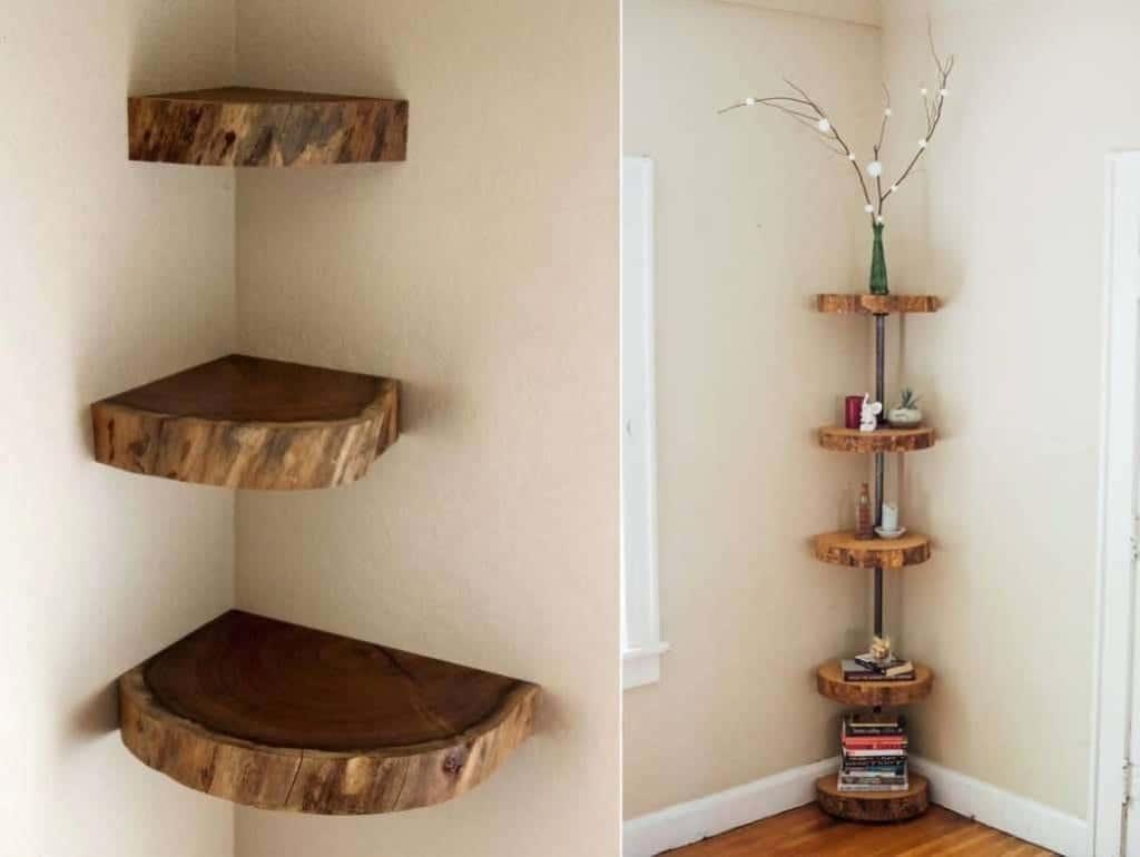 как да направим рафтове за книги от дървени шайби