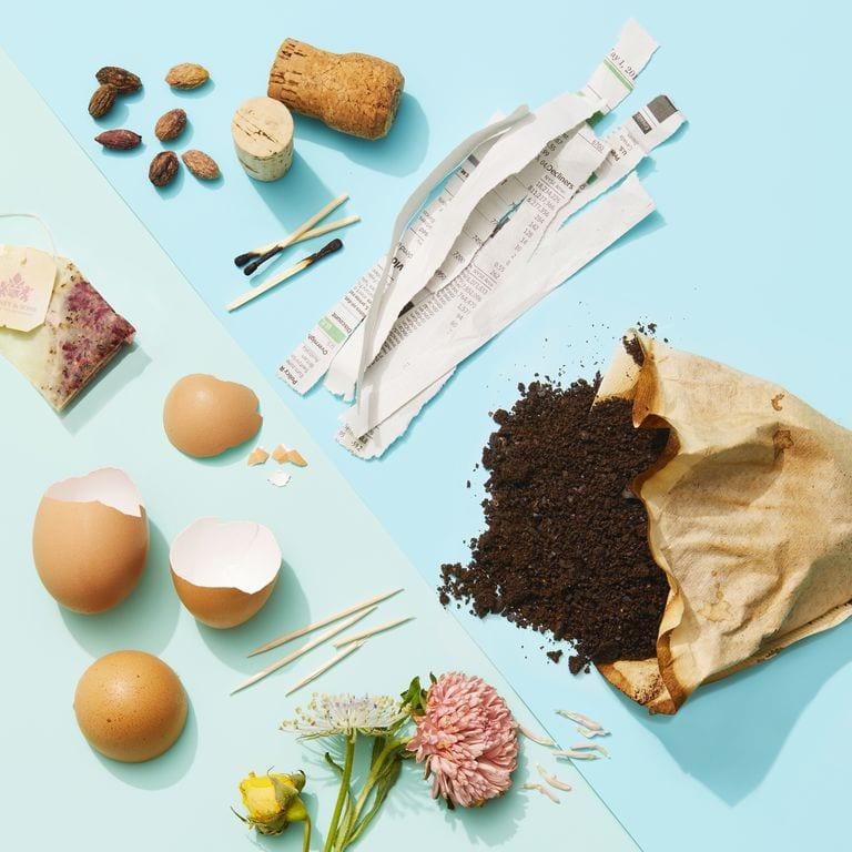 Как да направим компост в градината от кафе, чай, черупки от яйца и други.