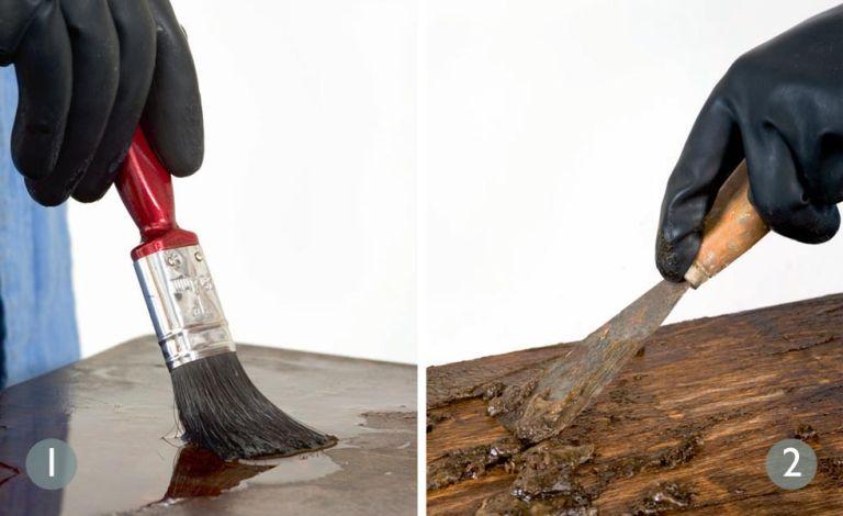 Почистването на старото дърво е ключов елемент във възстановяването на стари мебели.