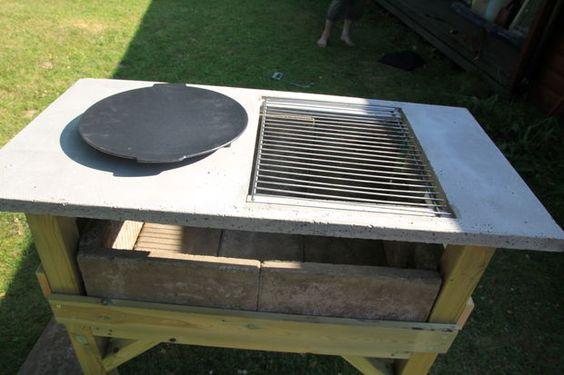 Как да направим красиво барбекю, вградено в дървена маса, с термоусточив плот?