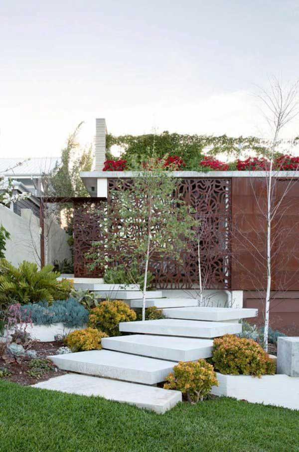 Градински стъпала от мрамор - как да направим стъпала в градината