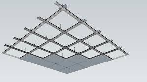 Монтиране на носеща конструкция на окачен растерен таван