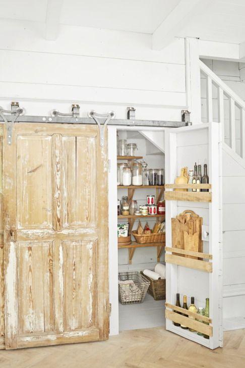Кухненски килер под стълбата. Как да използваме пространството под стълбите