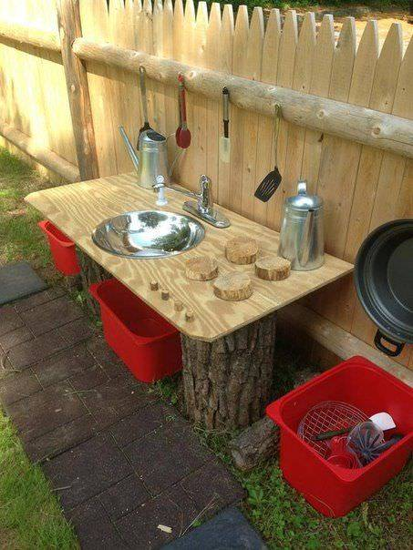 Дървена градинска чешма - как да направим чешма на двора