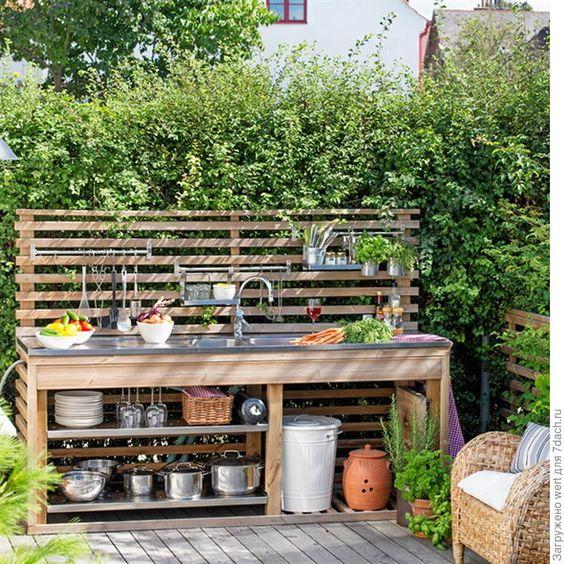 Идея за лятна кухня с чешма - как да направим чешма на двора