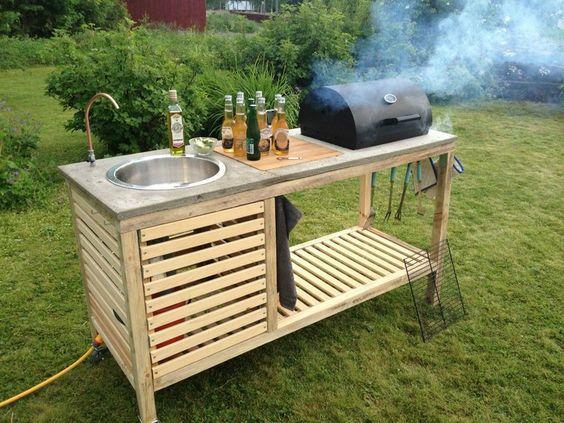Практична чешма с барбекю - как да направим чешма на двора и в градината