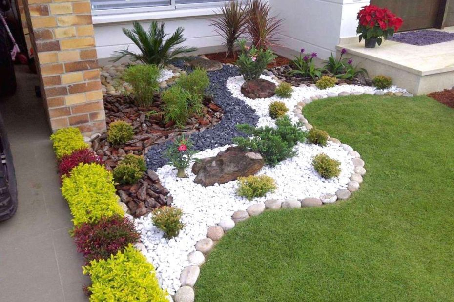 Как да изградим красива градина с чакъл и речен камък