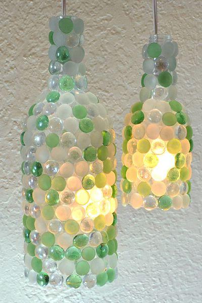 как да използваме празните бутилки - свещи от бутилка за вино