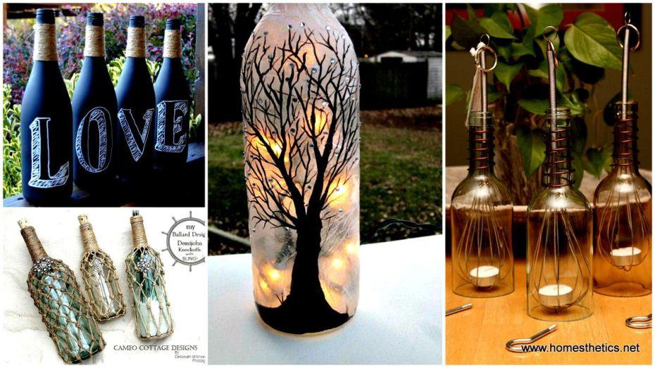 Красиви идеи с бутилки от вино
