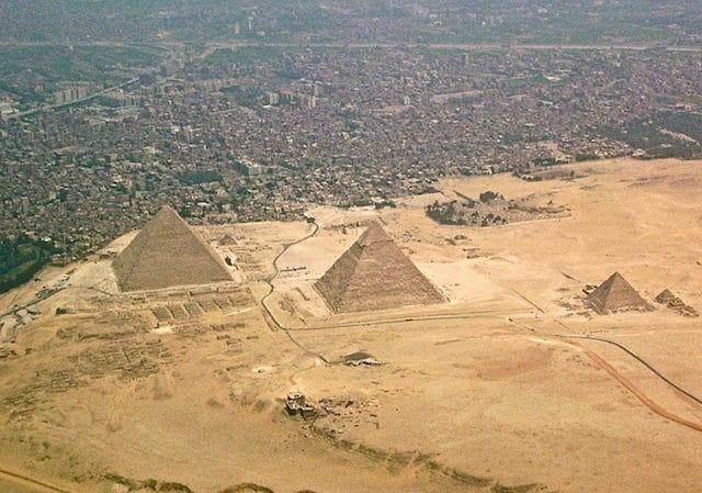Великите пирамиди в Гиза, Египет