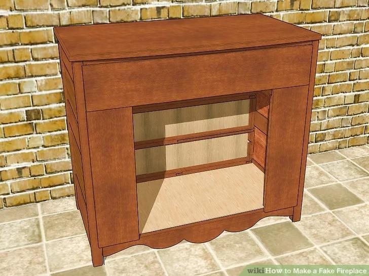 Как да направим изкуствена камина от стар скрин