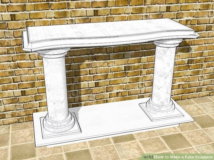 Изкуствена камина от декоративни колони - как да си направим изкуствена камина