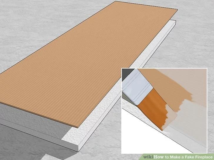 Фалшива камина от картон - как да си направим изкуствена камина