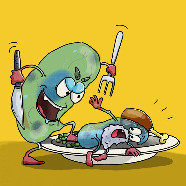 Могат ли клетките да се изядат сами