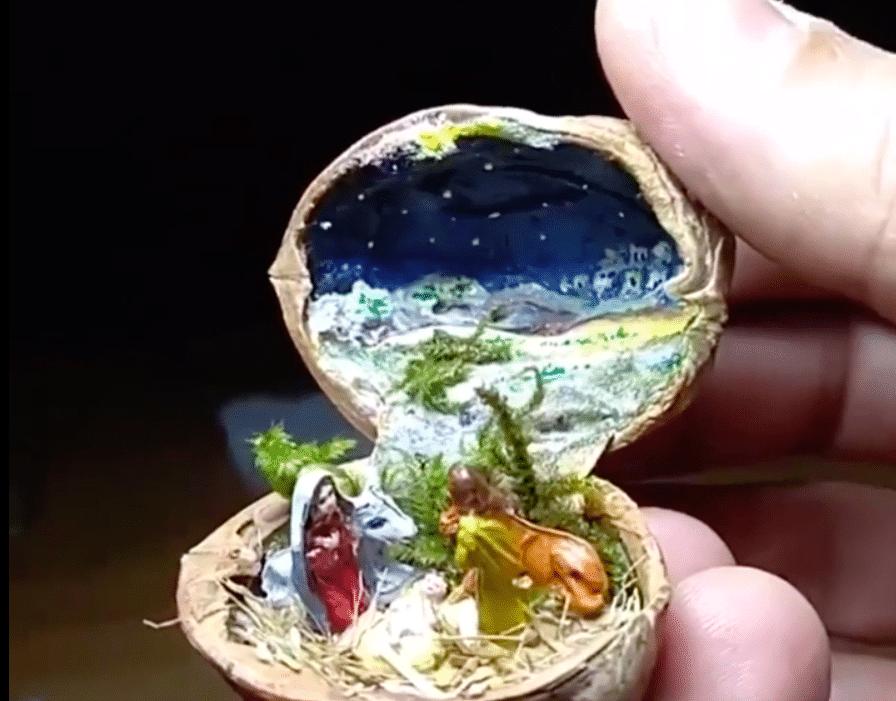 Изкуство от орехови черупки