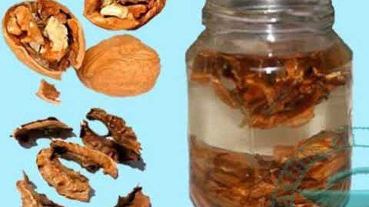 Лечение с орехови черупки - как да използваме ореховите черупки?
