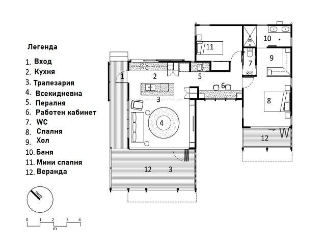 Мини къща за гости - разпределение