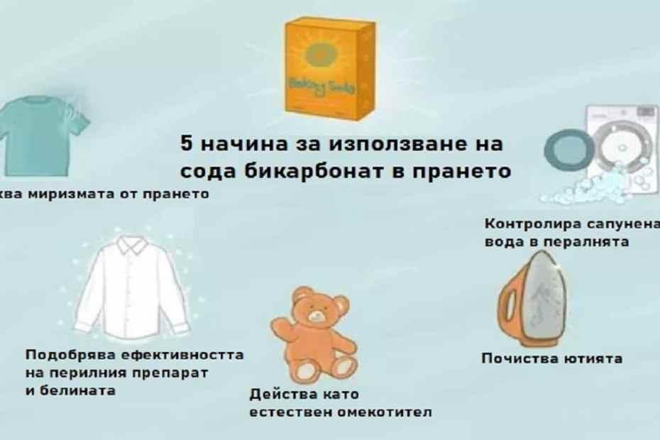 Как да използваме содата за хляб в прането