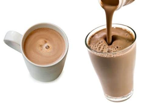 Пийте кафе и шоколадово мляко
