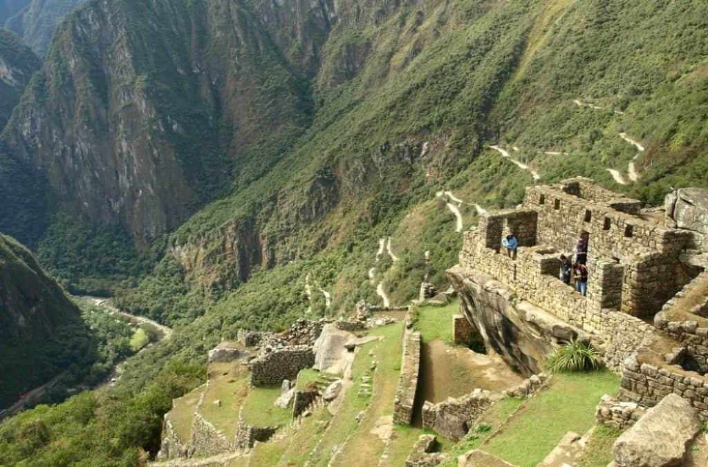Долина на река Урубамба от Мачу Пикчу
