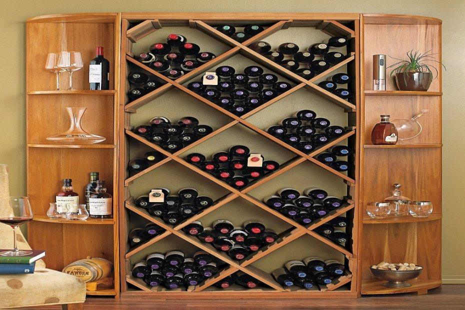 Как да направим рафтове за вино