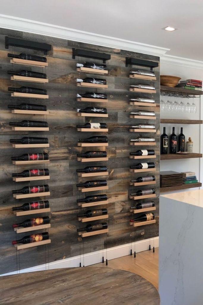 Рафт за вино на стената - Как да направим рафтове за вино