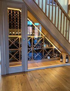 Рафтове за вино под стълбището - Как да направим рафтове за вино