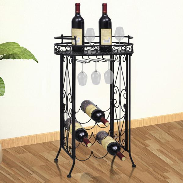 метален рафт за вино