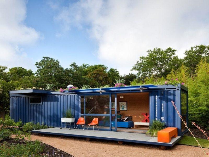 Евтина къща от транспортни контейнери