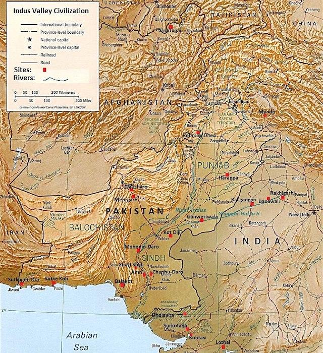 Размер и население на Индската цивилизация