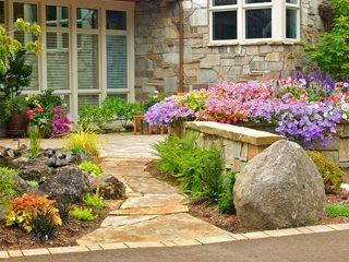 Дори предният двор може да бъде мястото на алпинеум - алпинеум - дизайн идеи и растения