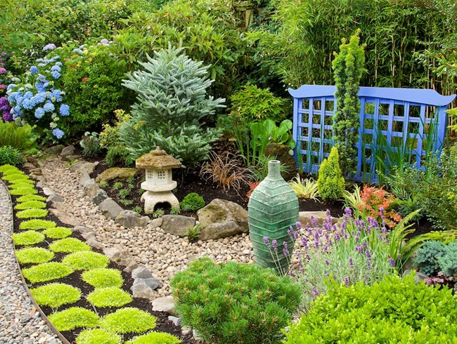 Красив алпинеум за градина