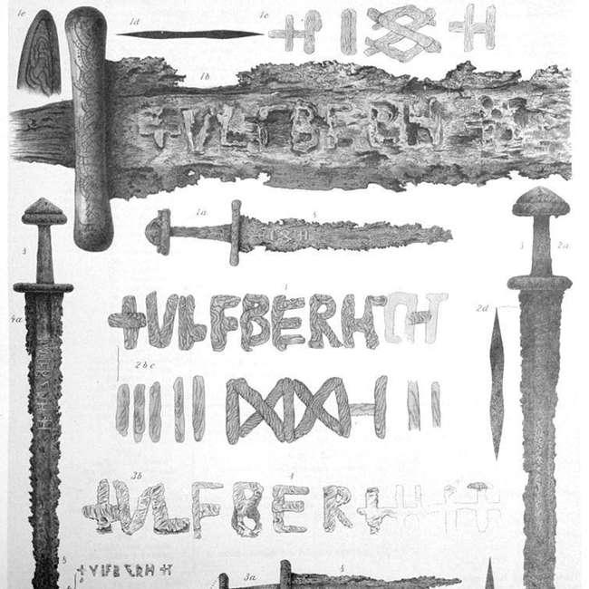 Не е ясно как викингите са направили своите Улфберт мечове