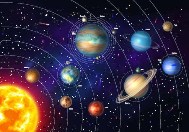Невъзможно е да се направи мащаб на слънчевата система