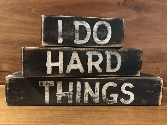 Правете трудните неща - т.е. не избягвайте трудностите