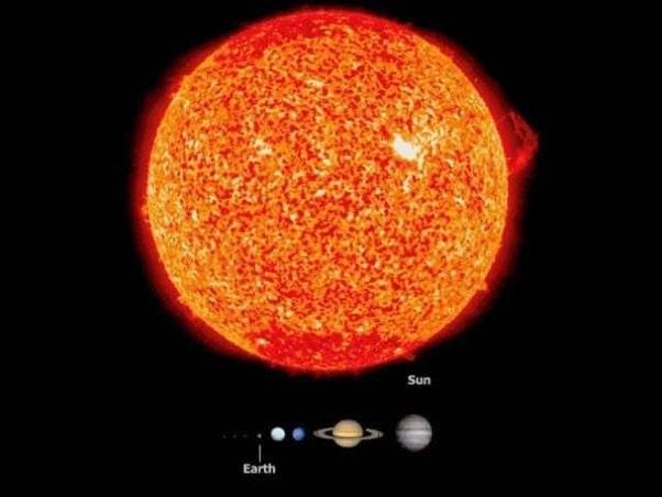 Цели 99,8% от нейната маса е нашето слънце