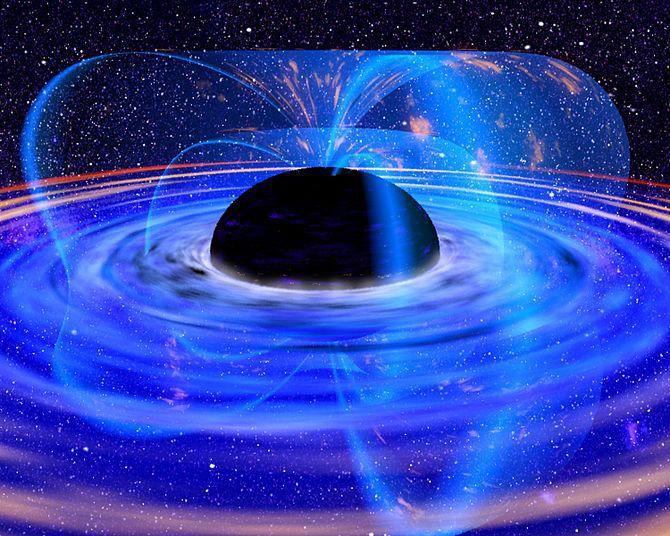Живеем на хоризонта на събитията на четиримерна черна дупка