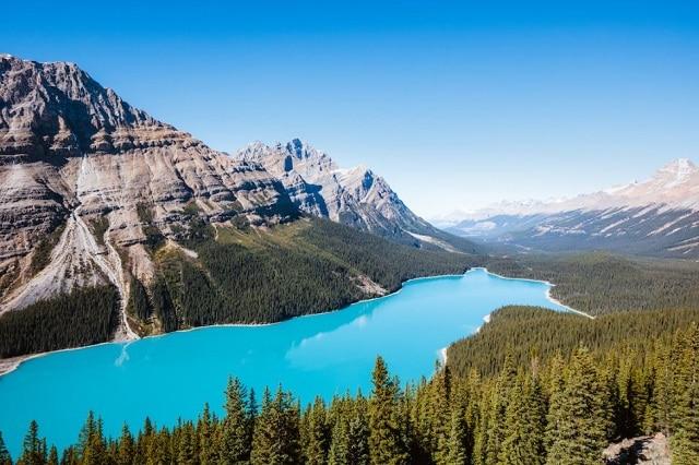 Езерото Пейто, Канада - 10 зашеметяващи природни чудеса
