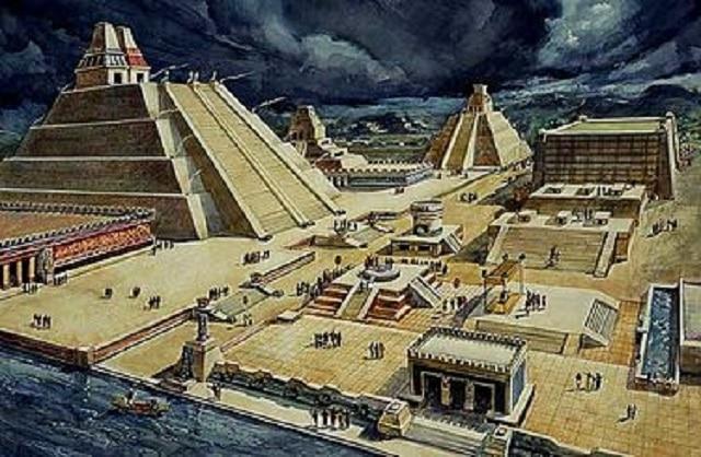 Дворецът и храмът на Теночтитлан, Мексико