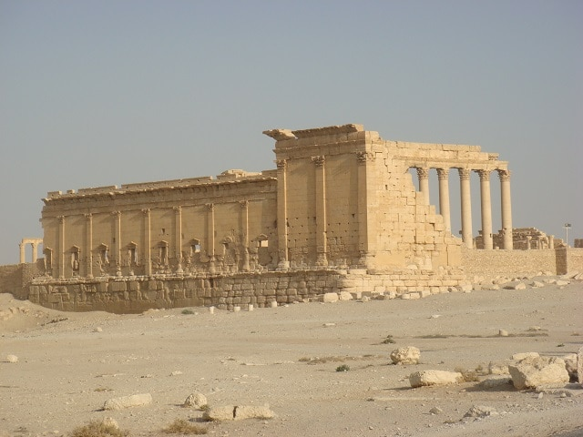Храмът на Бел в Палмира - унищожени обекти на културното наследство