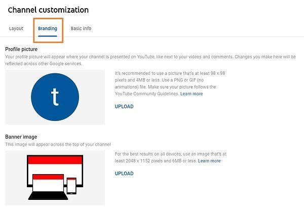Качете отличителни знаци на YouTube канала си - как да създадем канал в YouTube