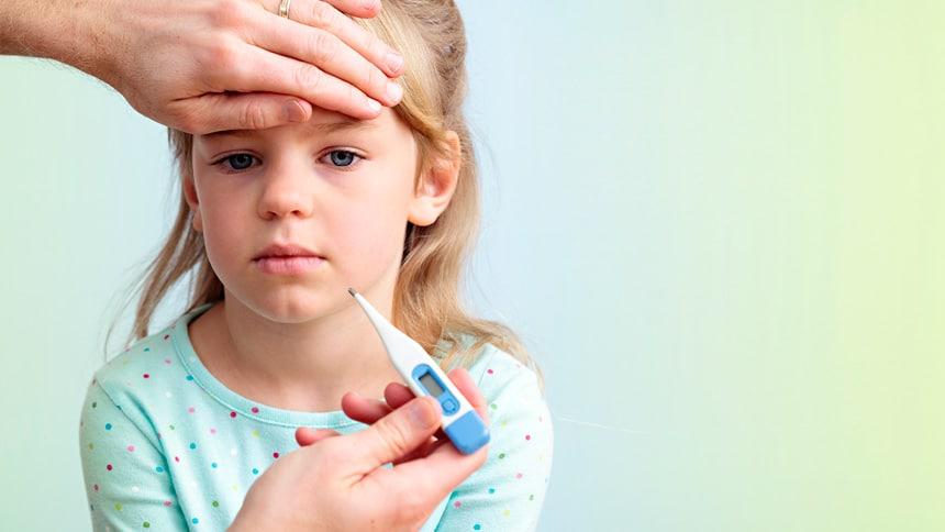 Кога температурата е твърде висока за дете или бебе