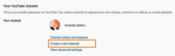 Създаване на нов YouTube канал