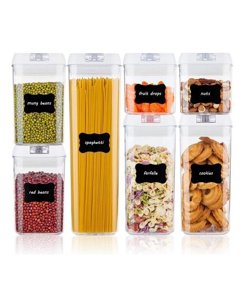 Херметичен комплект контейнери за съхранение на храни