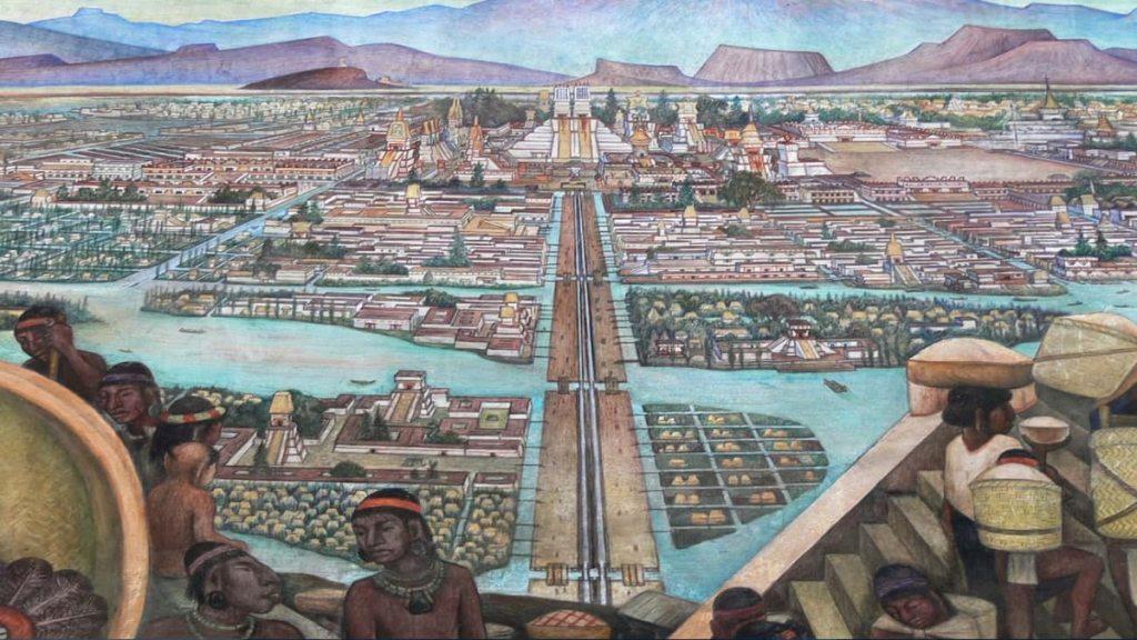 Теночтитлан - столицата на ацтеките - бил по-голям от Лондон или Рим